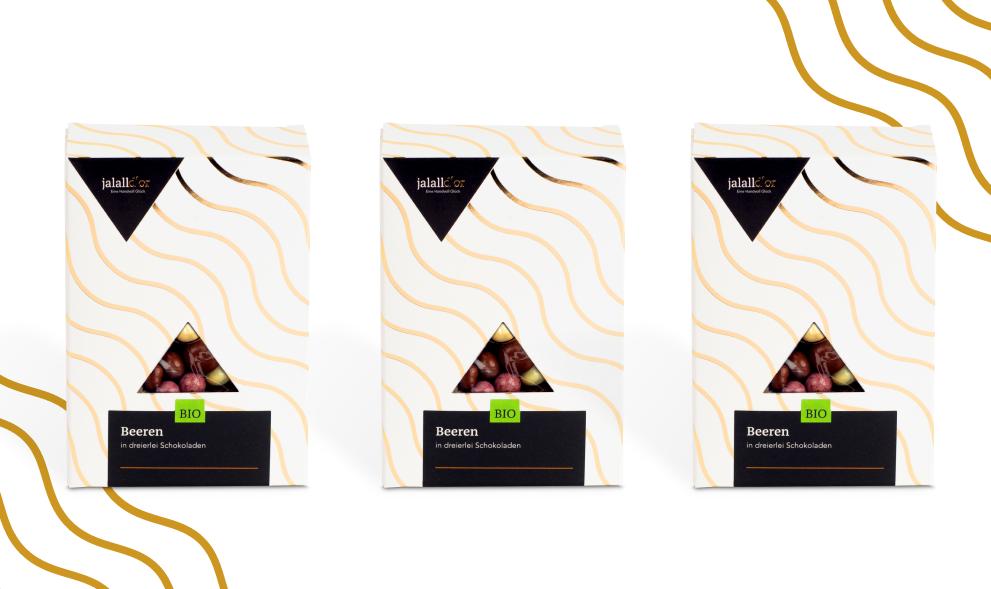 3er Set - Beeren in dreierlei Schokoladen bio