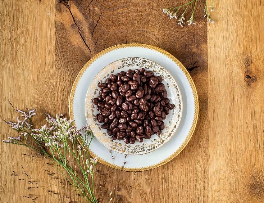 Rosinen in Zartbitter-Schokolade bio