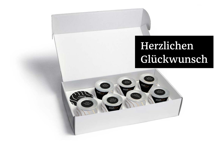 Herzlichen Glückwunsch bio schwarz -7er Box