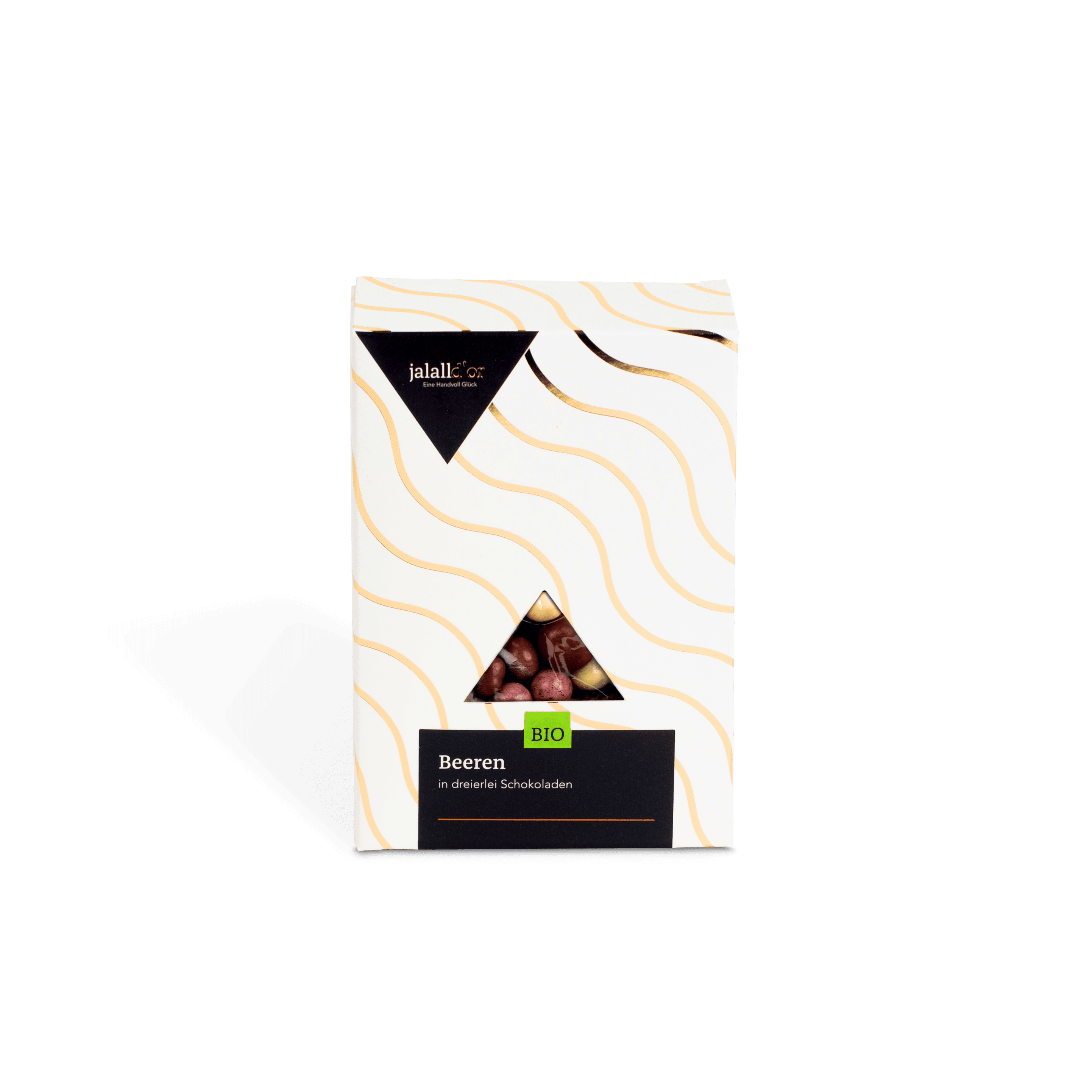 Beeren in dreierlei Schokoladen bio
