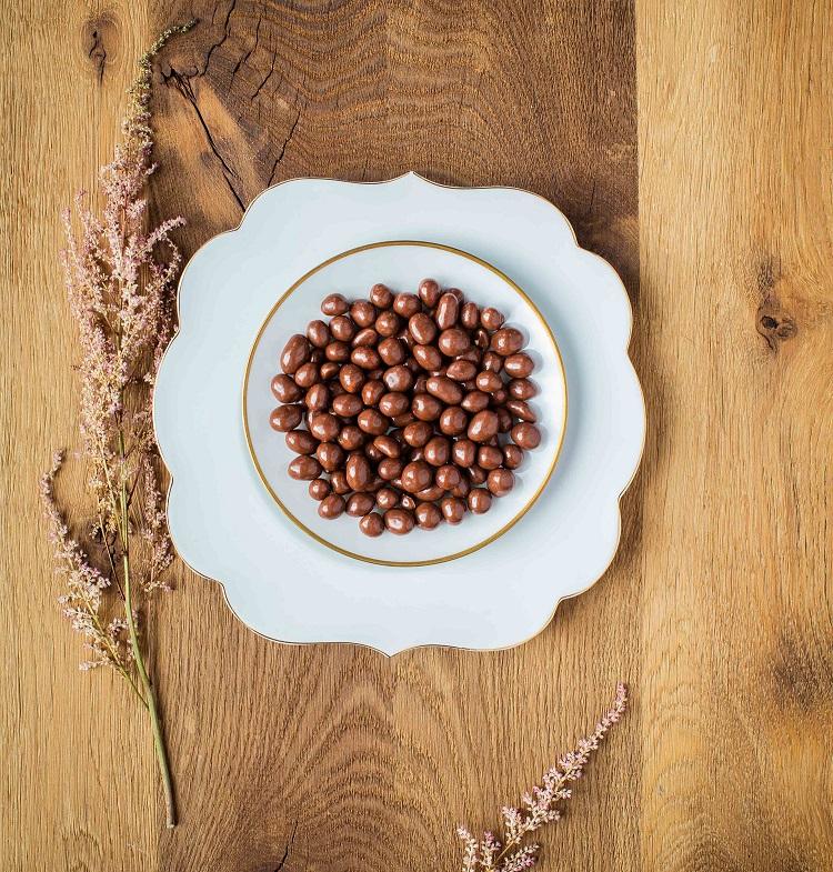 Erdnüsse bio in Vollmilch-Schokolade